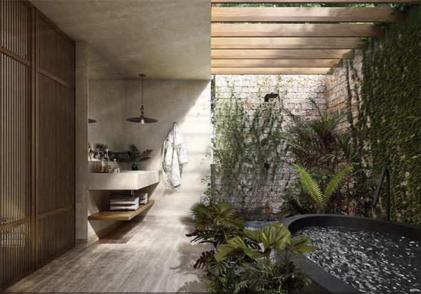 Jungle Keva Tulum Lodge - Bathroom View