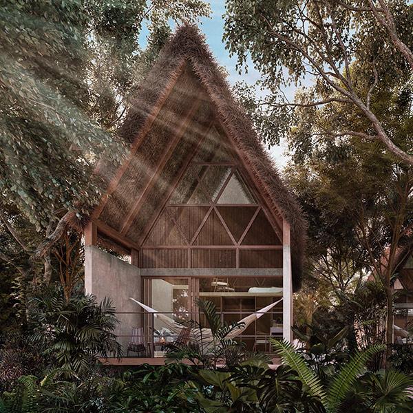 Jungle Keva Tulum lodging interior view