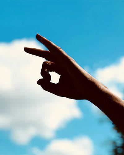 Yoga hand sign